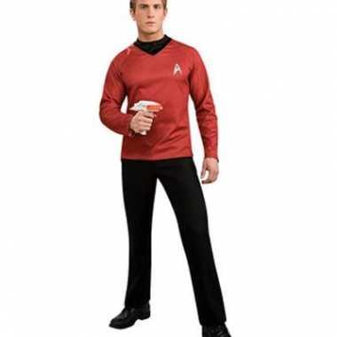 Startrek shirt rood col