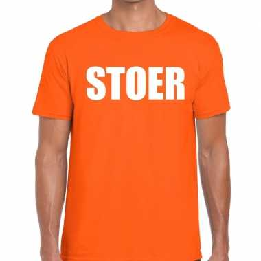 Stoer fun t shirt oranje heren