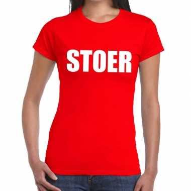 Stoer fun t shirt rood dames