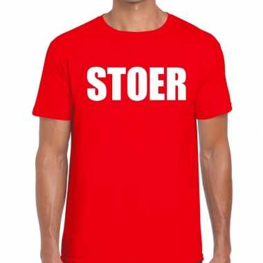 Stoer fun t shirt rood heren