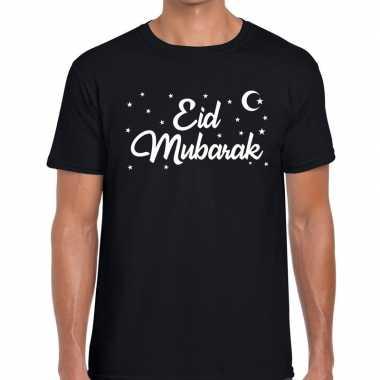 Suikerfeest shirt eid mubarak zwart heren