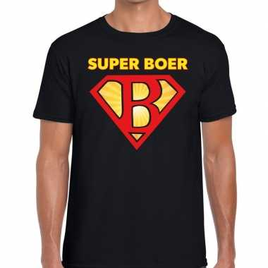 Super boer zwarte cross t shirt zwart heren