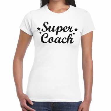 Super coach fun t shirt wit dames bedankt cadeau een coach
