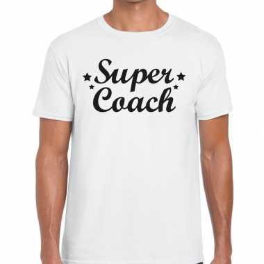 Super coach fun t shirt wit heren bedankt cadeau een coach