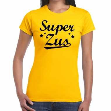 Super zus fun t shirt geel dames