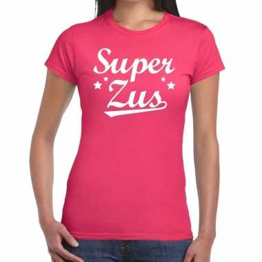 Super zus fun t shirt roze dames