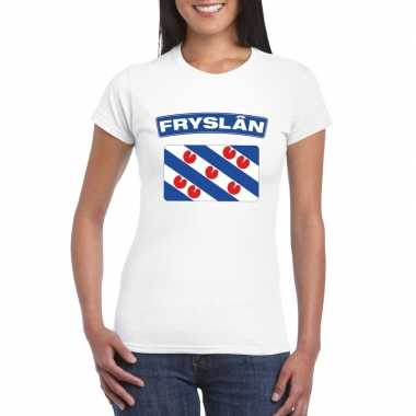 T shirt friese vlag wit dames