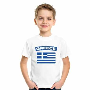 T shirt griekse vlag wit kinderen