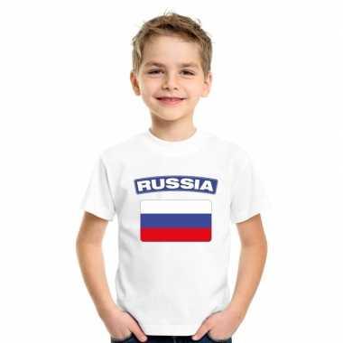 T shirt russische vlag wit kinderen