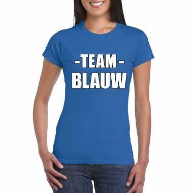 Team blauw shirt dames sportdag