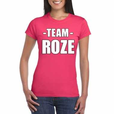 Team roze shirt dames sportdag