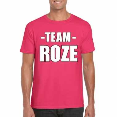 Team roze shirt heren sportdag