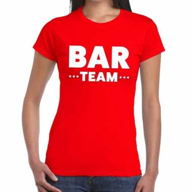 Team t shirt rood bar team bedrukking dames