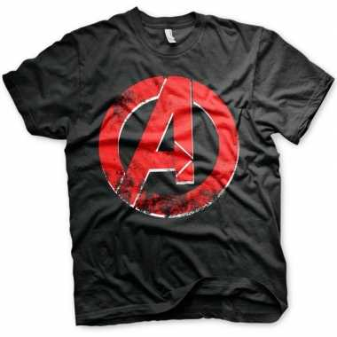 The avengers t-shirt zwart mannen