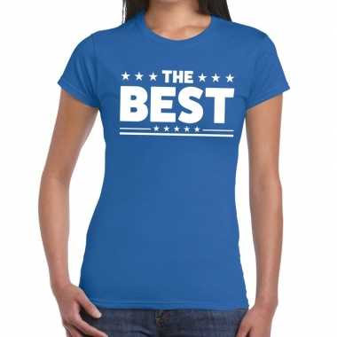 The best fun t shirt blauw dames