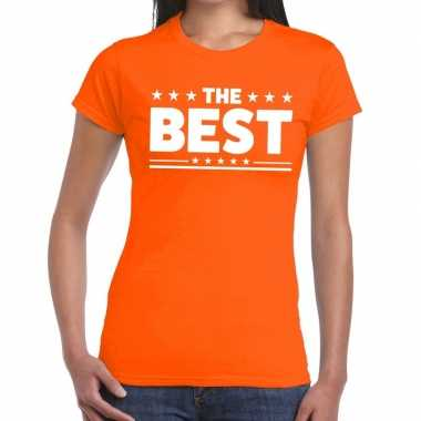 The best fun t shirt oranje dames