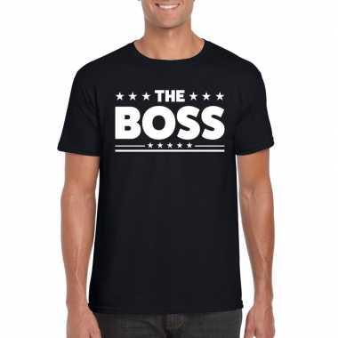 The boss fun t shirt heren zwart