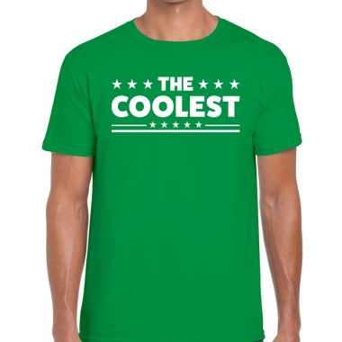 The coolest fun t shirt groen heren