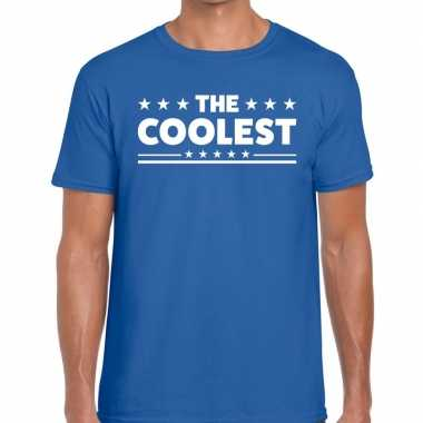 The coolest fun t shirt heren blauw