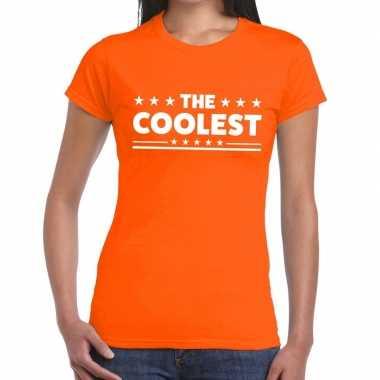 The coolest fun t shirt oranje dames