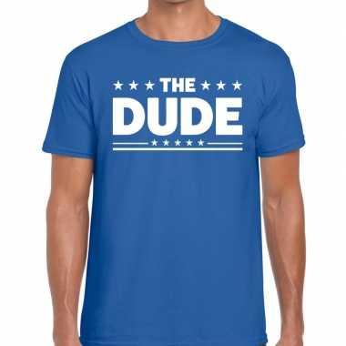 The dude fun t shirt heren blauw