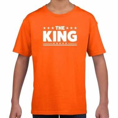 The king fun t shirt oranje kids