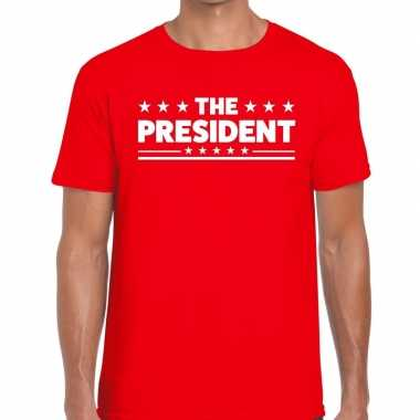 The president fun t shirt heren rood