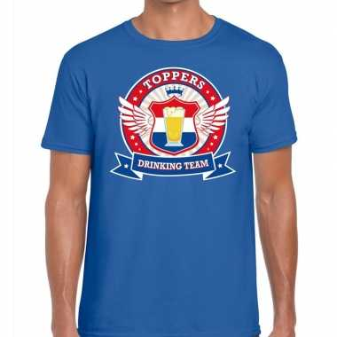 Toppers drinking team shirt blauw heren