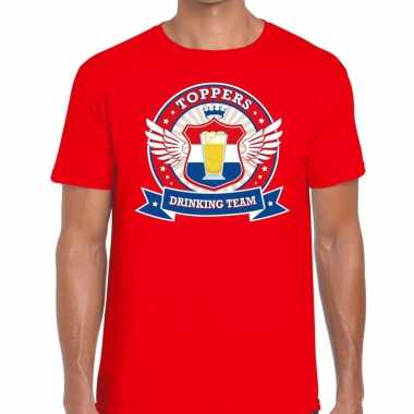 Toppers drinking team shirt rood heren
