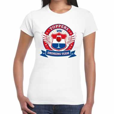 Toppers drinking team t shirt wit dames