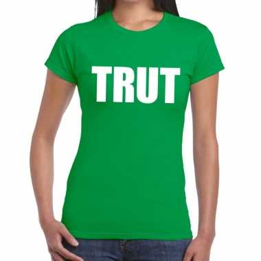 Trut fun t shirt groen dames