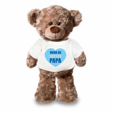 Vaderdag liefste papa knuffelbeer wit shirtje 24