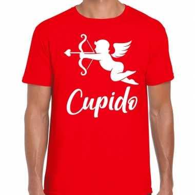 Valentijn cadeau verkleed shirt rood cupido bedrukking heren 10181605