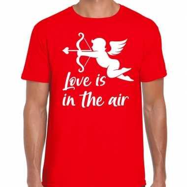 Valentijn cadeau verkleed shirt rood cupido bedrukking heren
