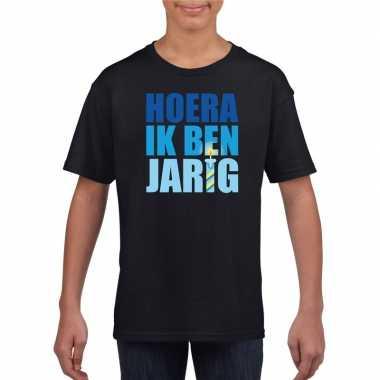 Verjaardags t-shirt jongens blauw