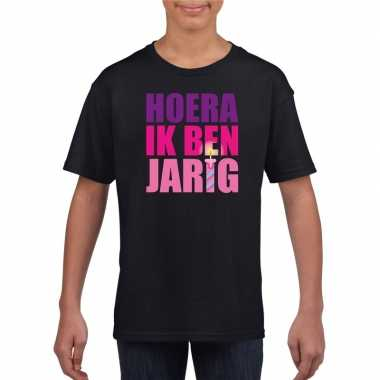 Verjaardags t-shirt meisjes roze
