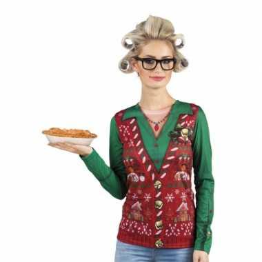 Verkleed t-shirt kersttrui oma dames