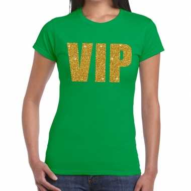 Vip fun t shirt groen dames