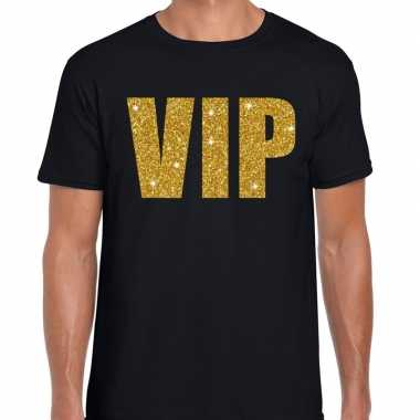 Vip fun t shirt zwart goud heren