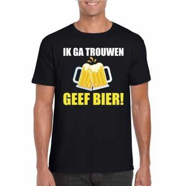 Vrijgezellenfeest bruidegom t shirt zwart bier heren