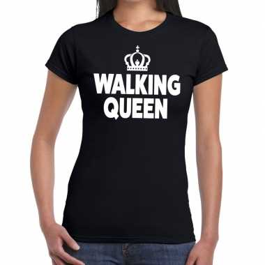 Wandel 4 daagse shirt walking queen zwart dames