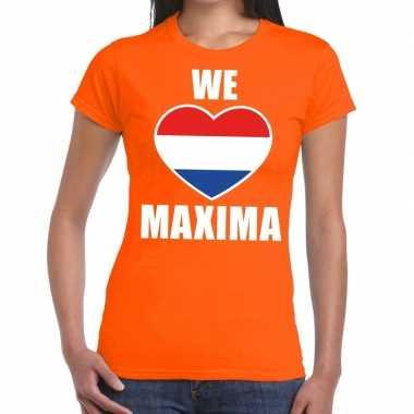 We love maxima shirt oranje dames