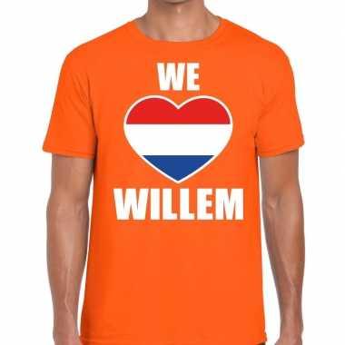 We love willem t shirt oranje heren
