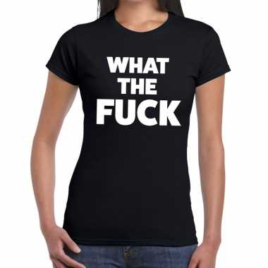 What the fuck fun t shirt zwart dames