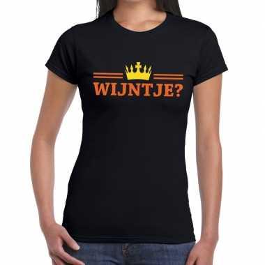 Wijntje shirt zwart dames