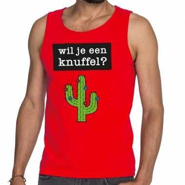 Wil je een knuffel fun tanktop / mouwloos shirt rood heren