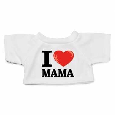 Wit knuffel shirt i love mama maat m clothies knuffel 13 bij 9