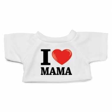 Wit knuffel shirt i love mama maat xl clothies knuffel 13 bij 9