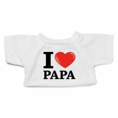 Wit knuffel shirt i love papa maat xl clothies knuffel 13 bij 9