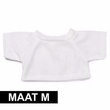 Wit-shirt m clothies knuffeldier 13 bij 9